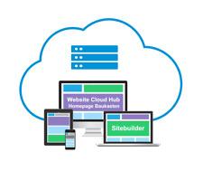 Premium Website Hosting mit Homepage Baukasten, Wunschdomain, Emailkonten u.v.m.