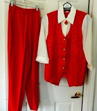 Reina Dressy Festive Pant Suit Outfit Set-size 8, red   WOW-nice!