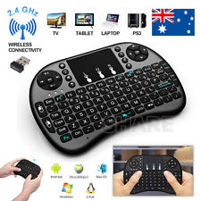 Rii BACKLIT Mini Wireless Keyboard i8 2.4GHz with Touchpad for TV PC android SNU