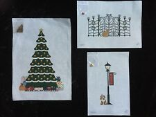 """Pat Thode Set of 7 Hand-painted Needlepoint Canvases """"Caroler Series"""" With SG"""