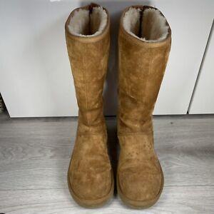 Ugg Australia Boots Size UK 8.5 EU 41 Brown Suede Womens