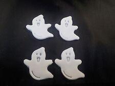 Halloween Cake or Cupcake Toppers set of 12 Ghost's Handmade Sugarpaste