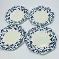 Set of 4 MEAKIN Royal Staffordshire TRELLIS BLUE Ironstone Dessert Salad Plate S