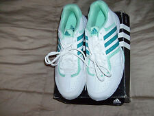 ADIDAS BARECOURT LADIES 2W-S74566 WHITE/Green Run/Casual Shoe,Sz 10 NWB