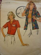 VINTAGE 1970'S BUTTERICK LADIES SHIRTS SEWING PATTERN