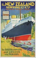 116 Vintage Travel Poster Art New Zealand *FREE POSTERS