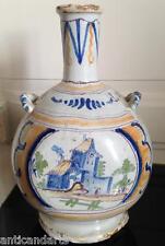 Belle Grosse Gourde faience début XIXéme 1818 décor Maison Nevers ? 28cm