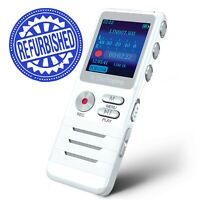 Digital Voice Activated Recorder Handheld Dictaphone Double Mic Spy Microphone
