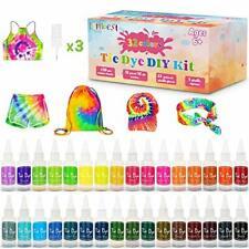 lenbest Tie Dye Kit, 32 Colors Tie-Dye Art DIY Fabric Textile, Dye Paints
