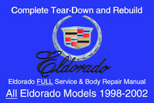 Cadillac Eldorado 1998 - 2002 Service Repair Workshop Manual Maintenance GM DVD