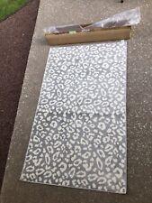 NEW Victoria's Secret PINK Grey Animal/Snow Leopard Area Rug Dorm Carpet 3'x5'++