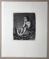 A. Paul Weber Die alte Laterne Lithographie 1974 handsigniert