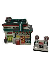 Coca Cola Town Square Collection Diamond Service Station w/ Pumps 1996