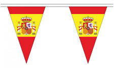 Spain Crest 5M Triangle Flag Bunting - 12 Flags - Triangular