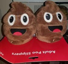 Adult Emoji Poo Slippers size 7-9
