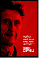 """GEORGE ORWELL """"RED"""" ART QUOTE PRINT PHOTO POSTER GIFT ANIMAL FARM 1984"""