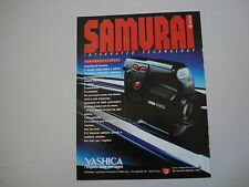 advertising Pubblicità 1988 YASHICA SAMURAI X30