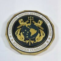 """Commander US Naval Forces South Command 1.75"""" Challenge Coin - US Navy"""