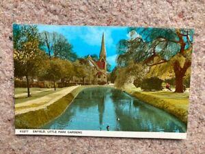 Postcard Enfield Little Park Gardens Harvey Barton 63377 VGC