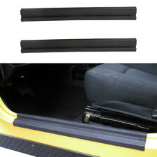 2Pcs Black ABS Entry Guard Door Scuff Plate for Jeep Wrangler TJ 1997-2006