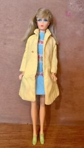 Vtg 1966 Twist Turn Barbie w/Sears Exclusive Trench,Lime Japan Boot,Togetherness