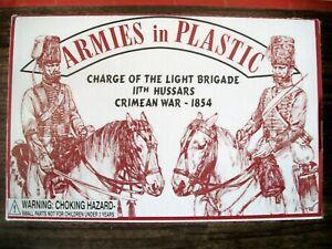 ARMIES IN PLASTIC BOXED 54MM NAPOLEONIC / CRIMEAN BRITISH HUSSARS  Lot 5