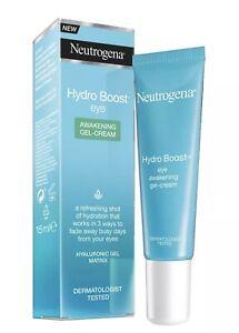 BNIB 3x Neutrogena Hydro Boost Awakening Gel Cream 15ml X3