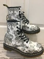 Women's Leather Glitter floral Dr Martens Bottes Uk4 EU37 SUPERBE Doc Martins