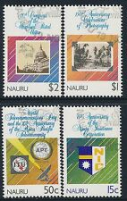 1989 NAURU ANNIVERSARIES & EVENTS SET OF 4 FINE USED/CTO
