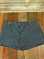 NEW Womens Banana Republic Ryan Fit Navy Blue & White Checkered Shorts 4