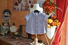 chemise  bonpoint 3 mois etat neuf carreaux mauve blanc petit col poche