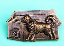 spitz dog House Old English Bulldog Vintage Jewelry Pin Samoyed American Eskimo