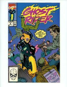 Ghost Rider #2, 1990 VF+ 🔥 2nd Series Deathwatch employs the App Blackout!