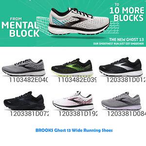 Brooks Ghost 13 Wide Men 2E / Women D Cushion Road Running Shoes Pick 1