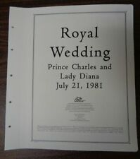 PALO Prince Charles and Diana 1981 Royal Wedding Album pages Unused