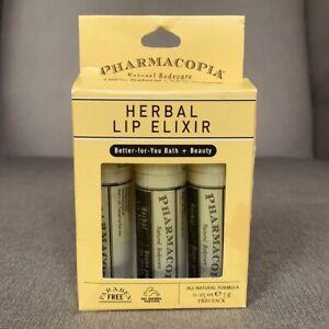 Pharmacopeia Herbal Lip Elixir 3 Pack - NEW IN BOX