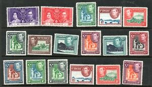 St Vincent George VI Collection Mounted Mint Approx 30 Stamps