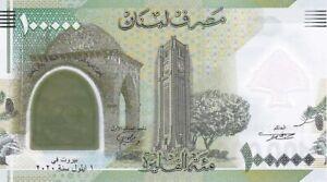 🇱🇧 Lebanon 100,000 Livres 2020, UNC, POLYMER,Comm.100'th Grand