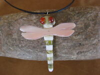 Hand Carved Alabaster and Shell Dragonfly Fetish Necklace by Matt Mitchell!