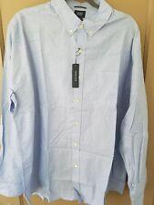 Reed Edward Blue dot Button Down Long Sleeve Men Shirt 2XL $48.50 slim fit