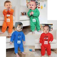 New Baby Boys Girls Cartoon Bodysuit Baby Infant Long Sleeve Romper Clothes Set