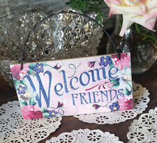 Welcome Friends Indoor Wall Decor USA DecoWords New Shabby Style WOODEN SIGN