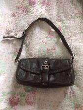 Beautiful SMITH&CANOVA Soft Dark Brown Leather Handbag VGC