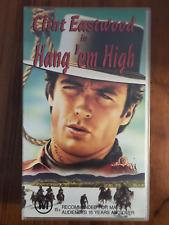 HANG 'EM HIGH CLINT EASTWOOD PAT HINGLE  RARE ORIGINAL ASNEW PAL VHS VIDEO