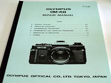 Olympus OM-réparation système instructions pour la om-4 ti