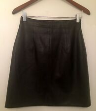 Rebecca Moses Leather skirt Black Size 8( Check Measurements )