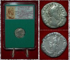 Ancient Roman Empire Coin Of COMMODUS Hilaritas On Reverse Silver Denarius