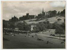 Bandstand Princes Street Gardens Edinburgh Vintage 1946 Photograph L2