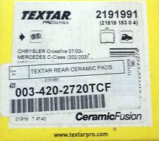 Textar Ceramic 003 420 27 20 - Rear Disc Brake Pad Set