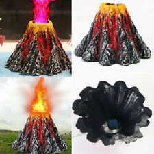 LED Aquarium Volcano Shape Air Bubble Stone Oxygen Pump Fish Tank Ornament Gift